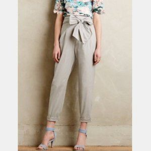Cartonnier Belted High Waisted Cropped Pant